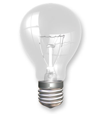 Light Bulbs 2500 Hr. 100W 4/pk  